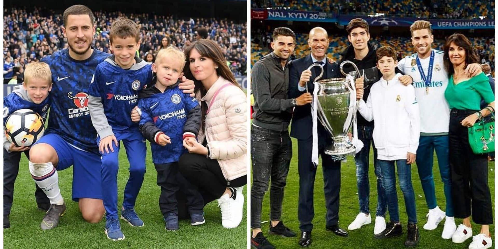La troublante ressemblance familiale entre Eden Hazard et Zinédine Zidane