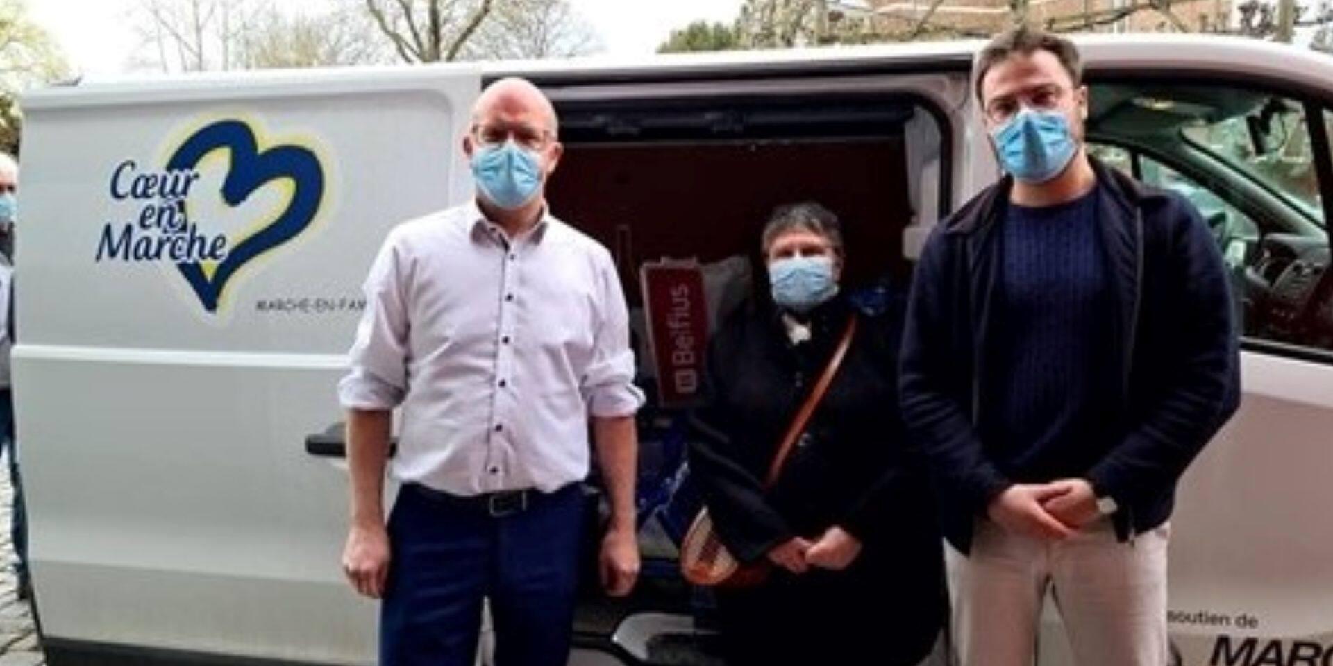 Marche-en-Famenne : des centaines de kilos de denrées aux restos du cœur