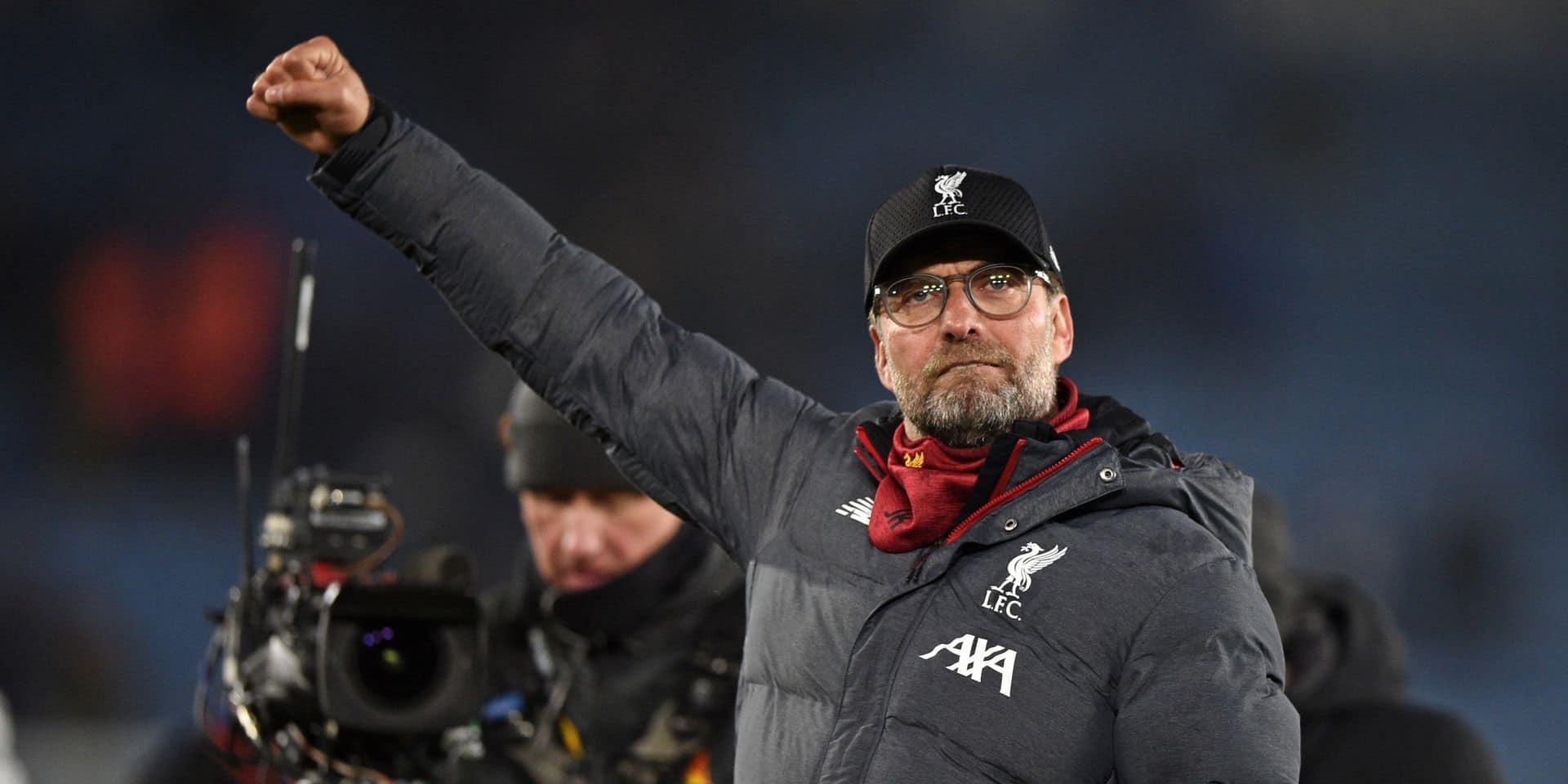 """Liverpool est bien parti pour le titre mais Klopp tempère l'enthousiasme: """"Rien n'est décidé"""""""