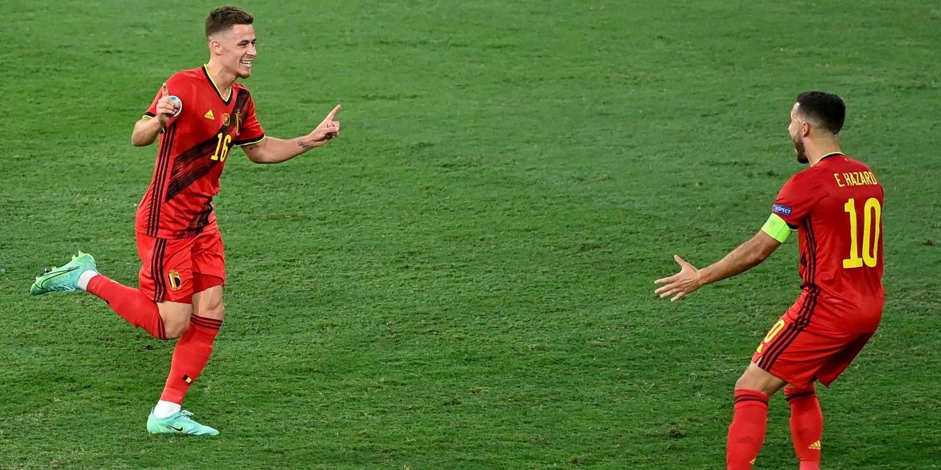"""Thorgan Hazard raconte la réaction d'Eden sur son splendide but contre le Portugal: """"Il n'en revenait pas lui-même"""""""
