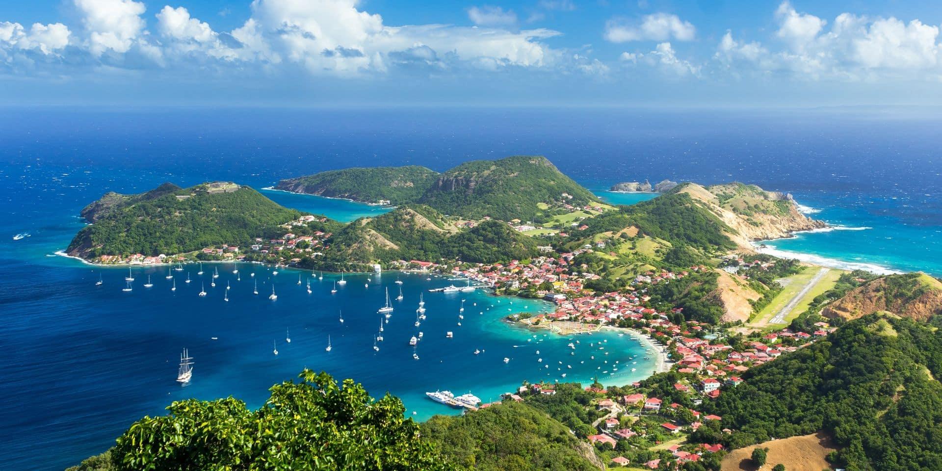 A la Guadeloupe, comment vous dire… tout est bleu