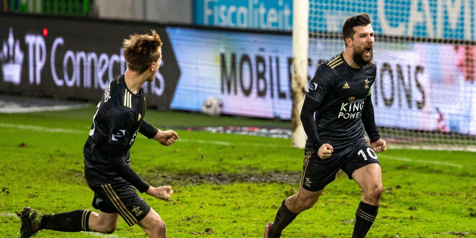 Mené 2-0, Oud-Heverlee Louvain s'impose 2-3 à Zulte Waregem