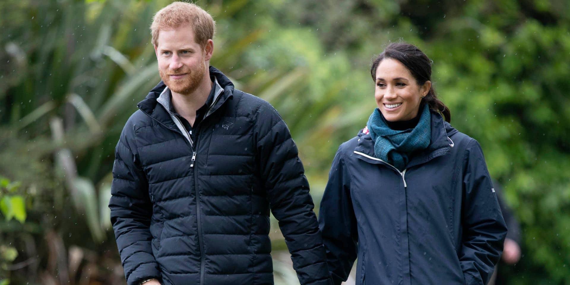 """Quand Harry remercie les Né-Zélandais au nom de lui-même, """"de Meghan et de notre """"little bump"""""""