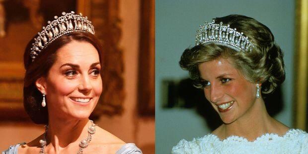 Kate Middleton rend hommage à Diana lors d'un dîner officiel avec la reine Maxima - La DH