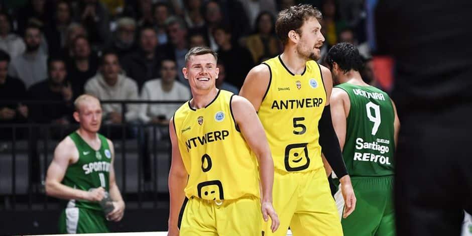 Anvers débute sa campagne en FIBA Europe Cup par une victoire contre le Sporting