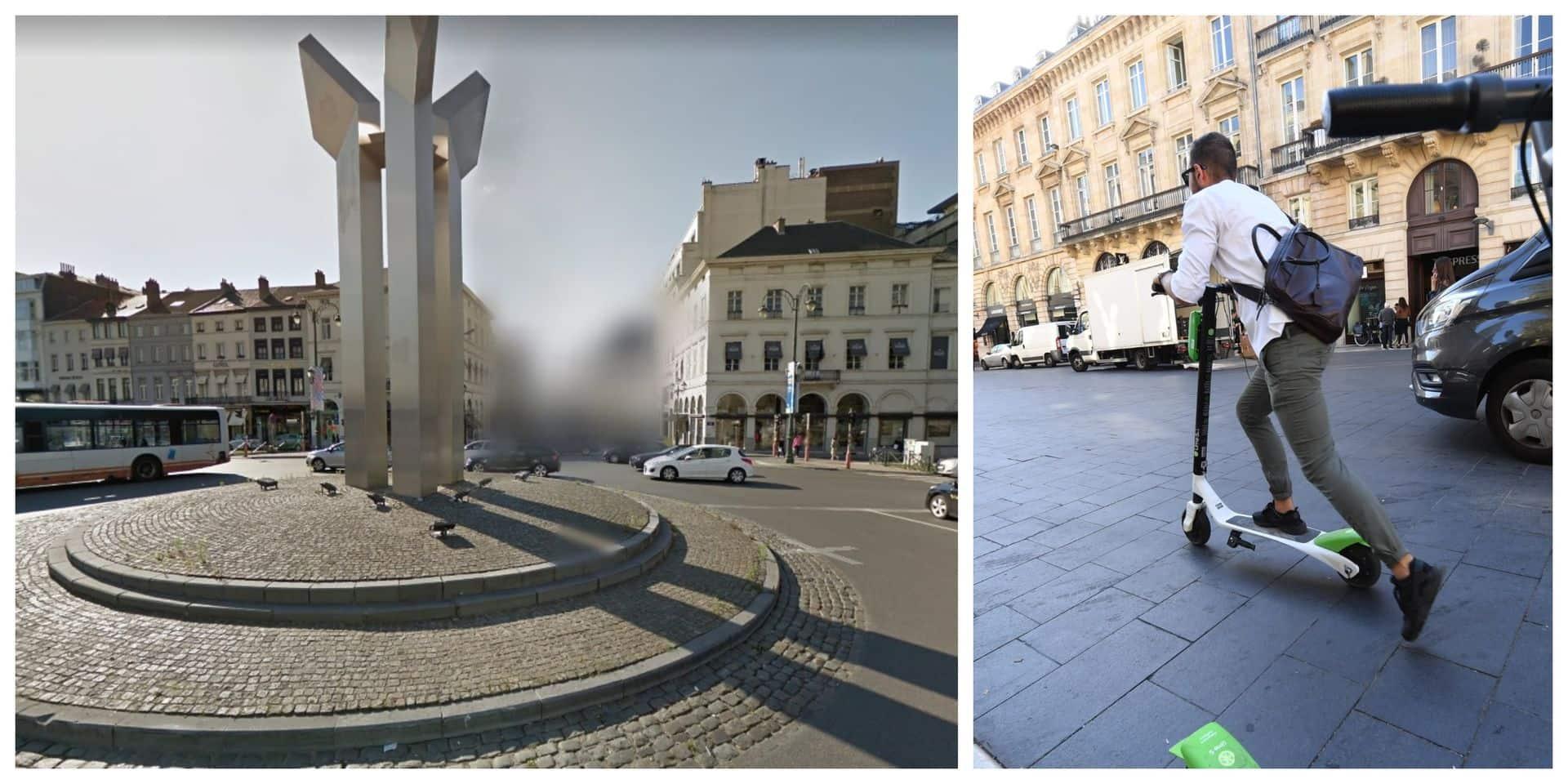 Bruxelles-Ville : Un trottinettiste renversé par une voiture à la Porte de Namur