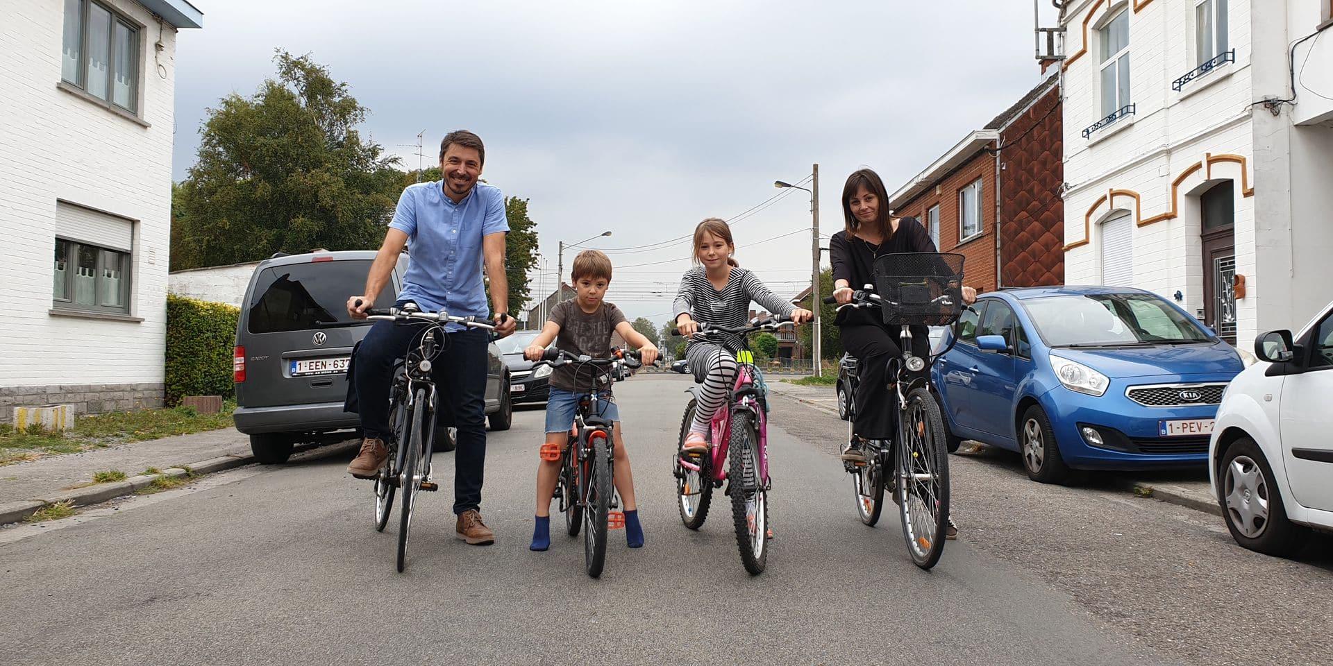 Mons: Trois familles relèvent le défi de la semaine sans voiture