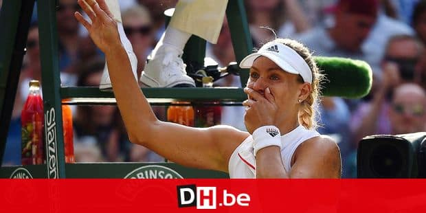 Germany's Angelique Kerber celebrates after winning against US player Serena Williams during their women's singles final match on the twelfth day of the 2018 Wimbledon Championships at The All England Lawn Tennis Club in Wimbledon, southwest London, on July 14, 2018. Kerber won the match 6-3, 6-3. / AFP PHOTO / Oli SCARFF / RESTRICTED TO EDITORIAL USE