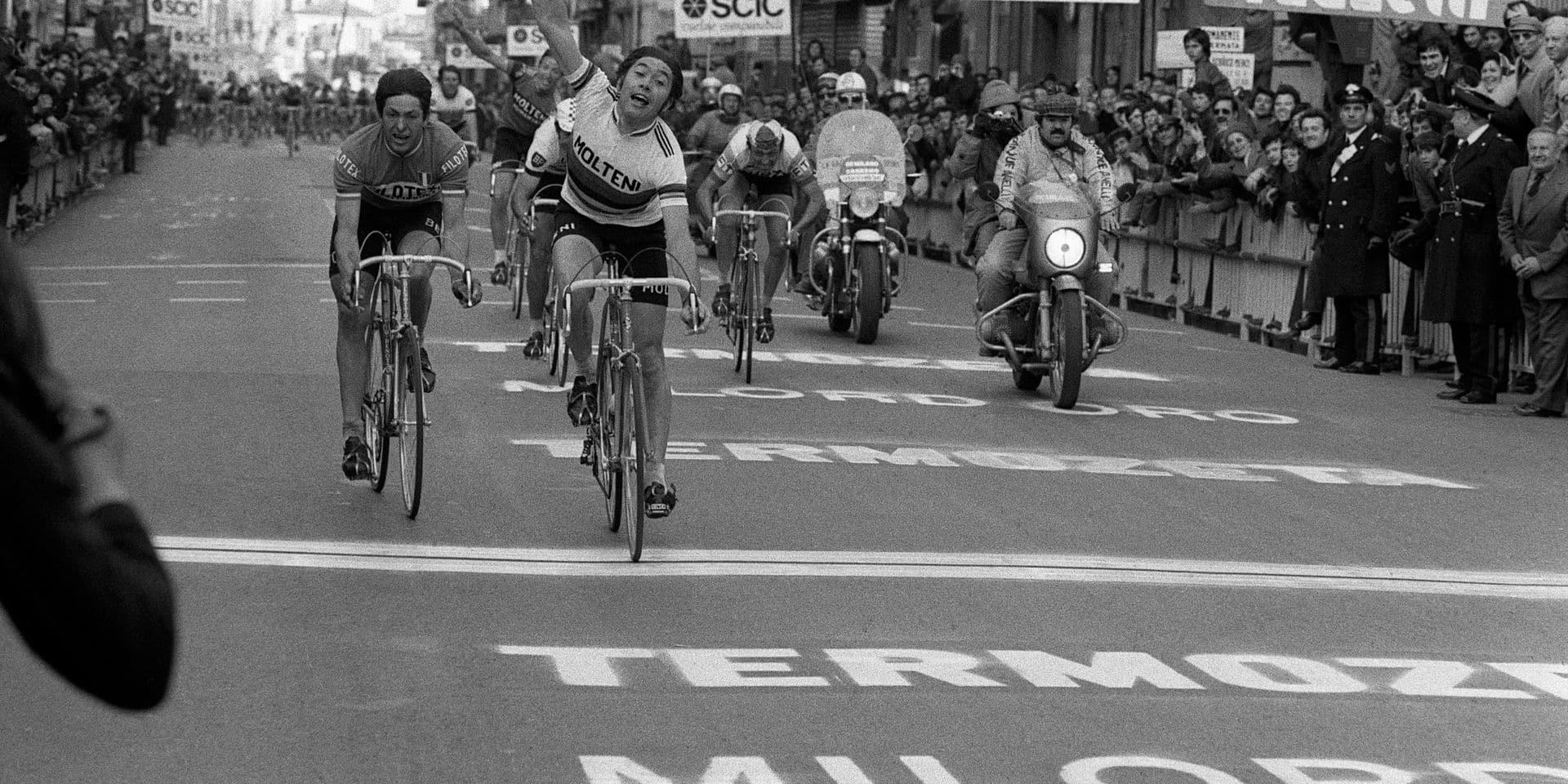 """1975, quand Eddy Merckx a gagné Milan-Sanremo pour la sixième fois: """"Soudain, j'ai vu un express me dépasser"""""""