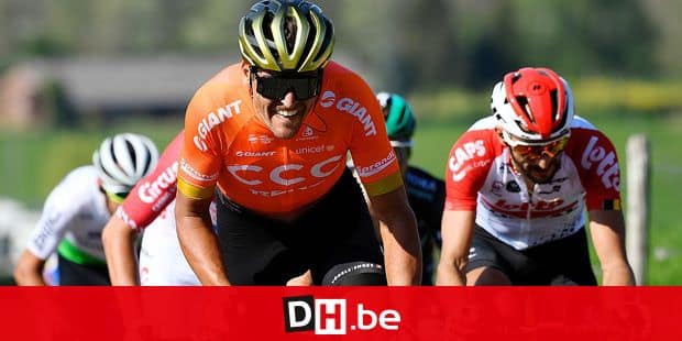 Belgian Greg Van Avermaet of CCC Team pictured in action during the 'Amstel Gold Race' one day cycling race, 263 km from Maastricht to Berg en terblijt, The Netherlands, Sunday 21 April 2019. BELGA PHOTO YORICK JANSENS
