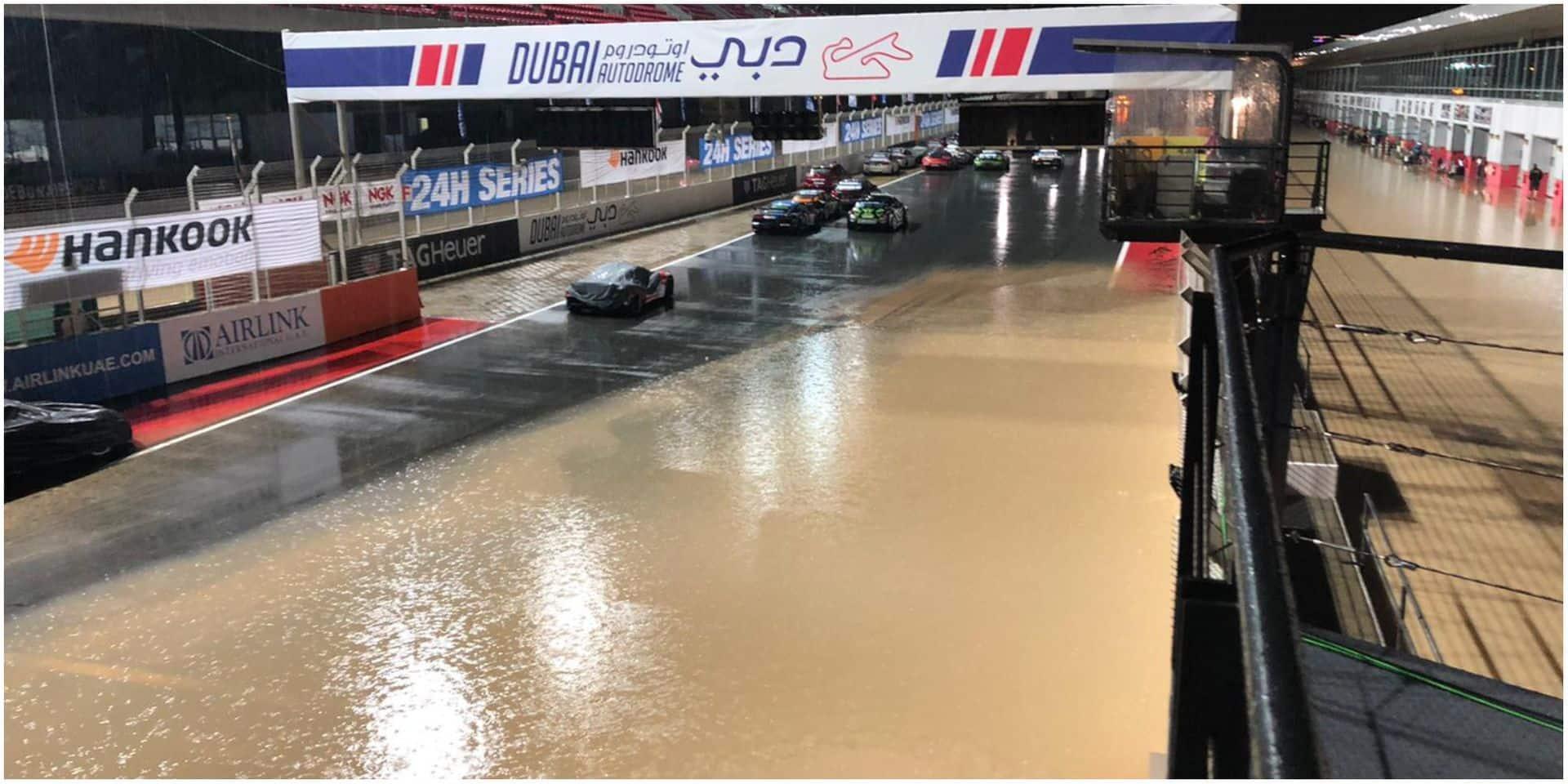 Coup dans l'eau pour les 24H de Dubai: la piste inondée suite aux intempéries