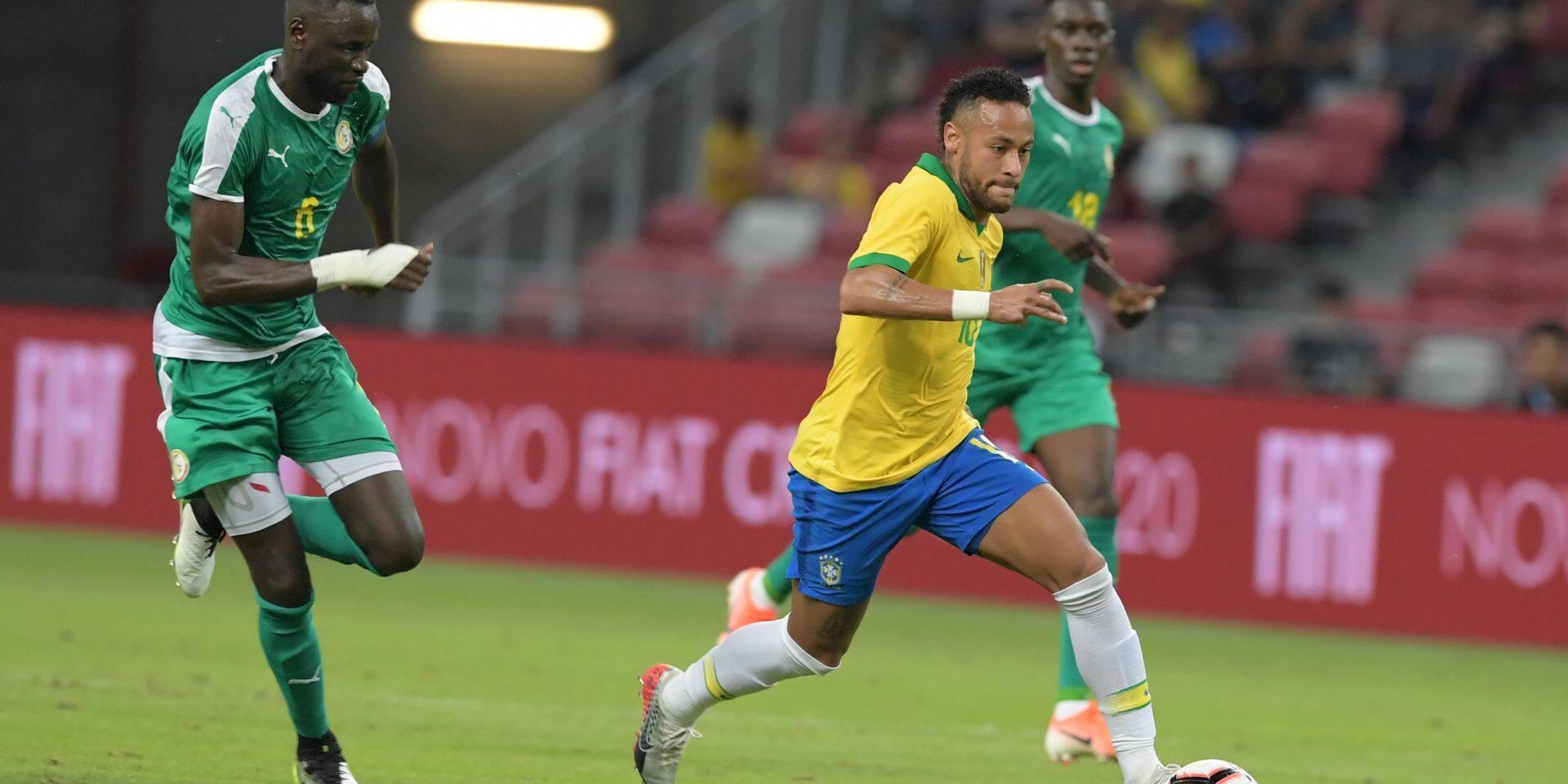 Le Brésil accroché par le Sénégal pour la centième de Neymar