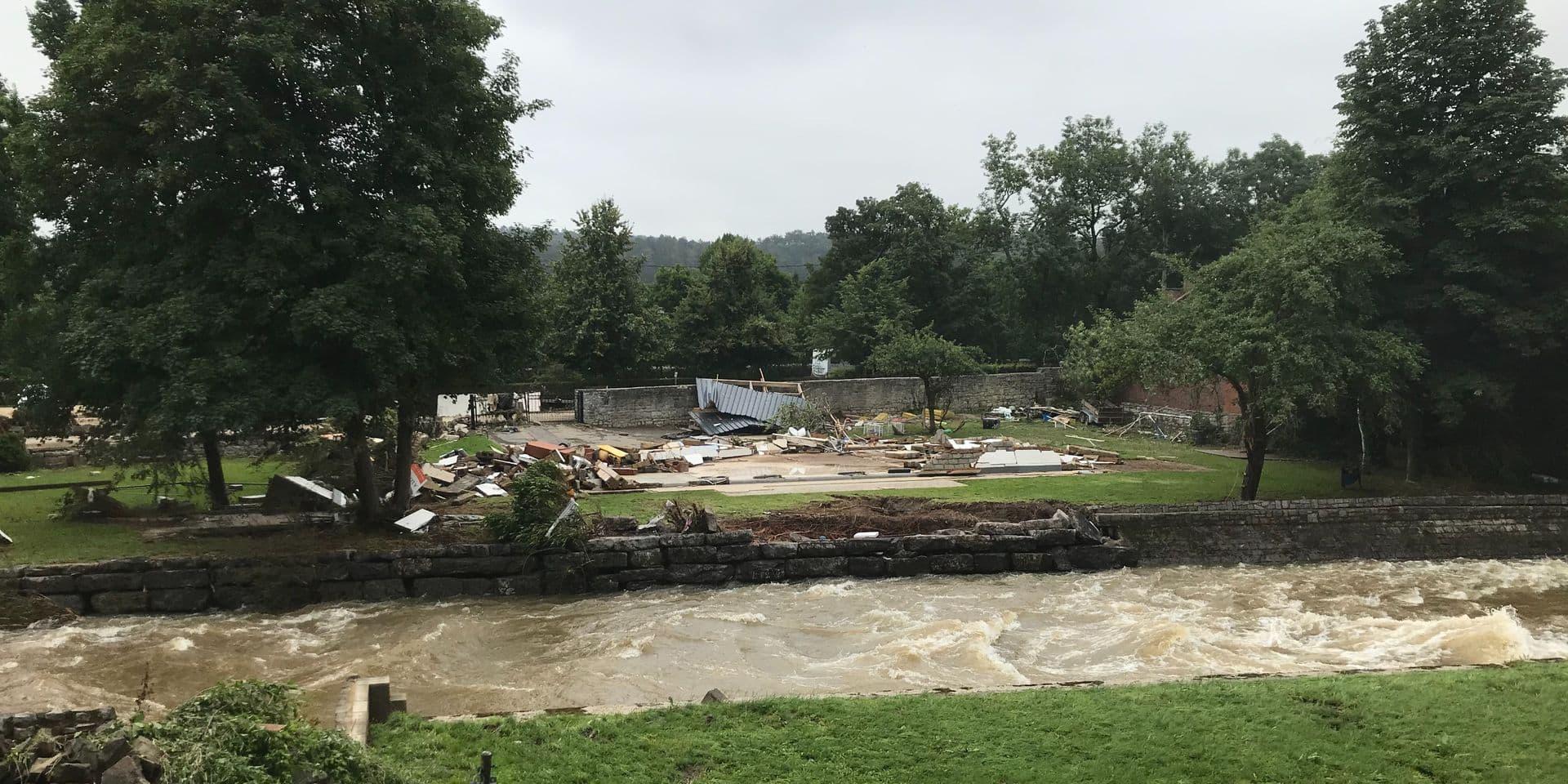 L'armée reste mobilisée pour aider les victimes des inondations en provinces de Namur et de Luxembourg