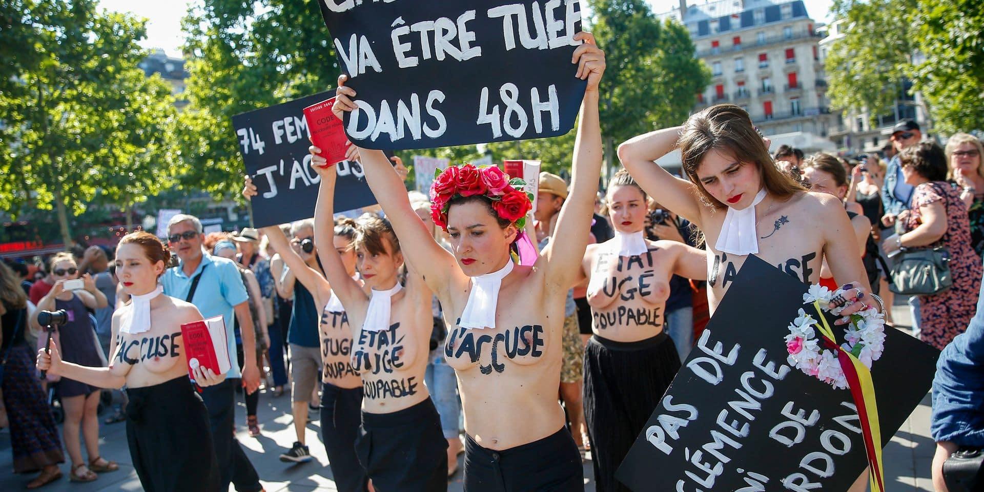 Manifestation contre les feminicides