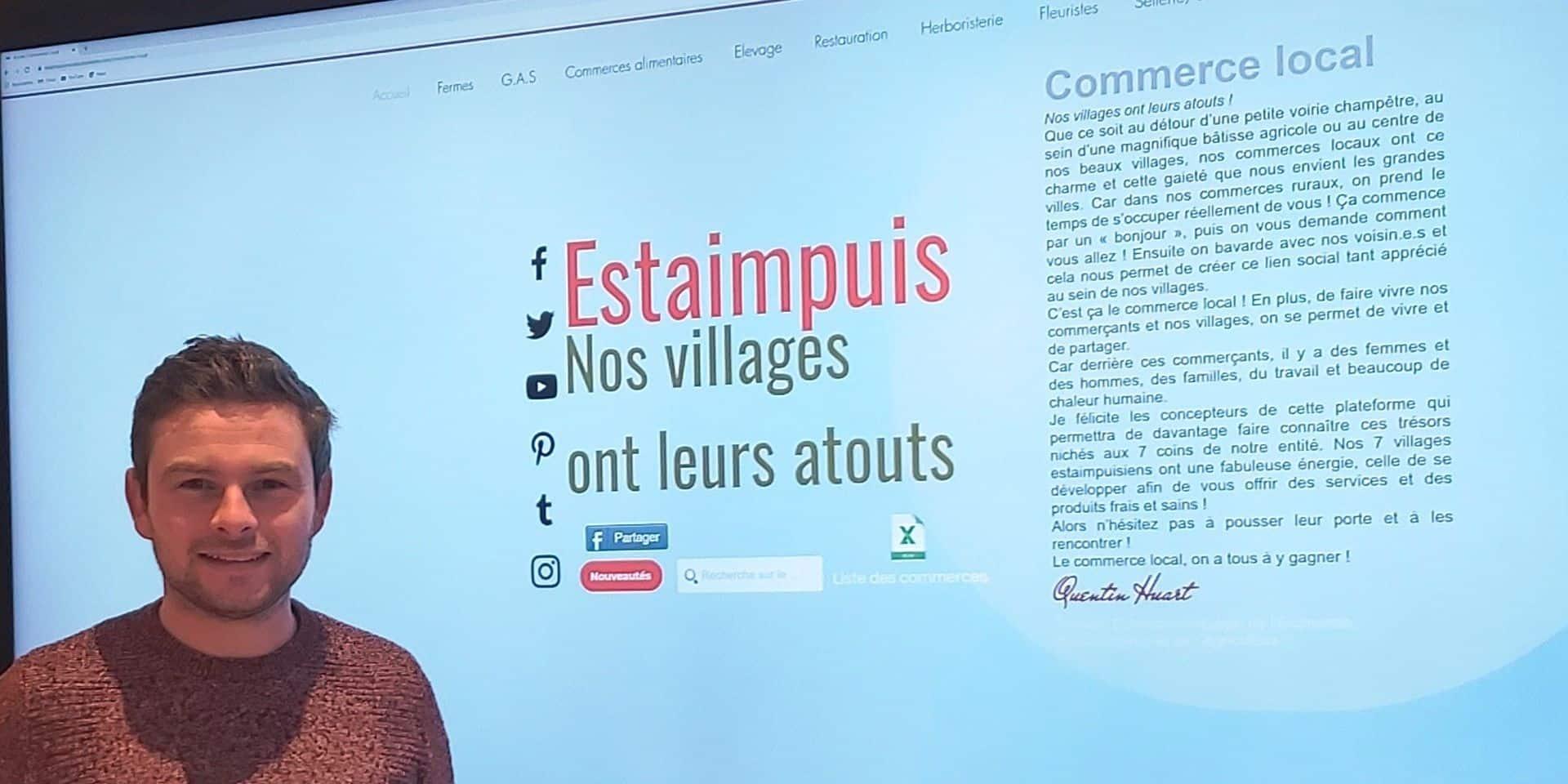 Estaimpuis: une plateforme web pour le commerce local