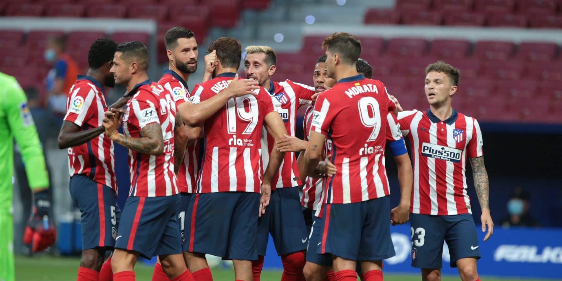 Deux membres de l'Atlético Madrid positifs au Covid-19 à 4 jours du Final 8