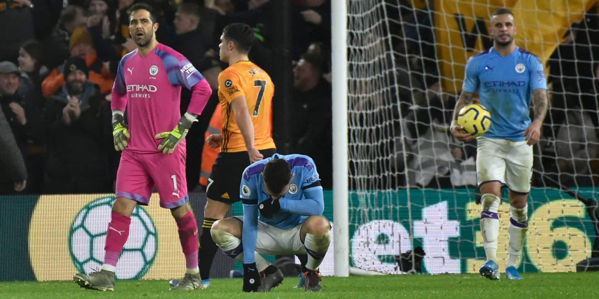 Premier League: City s'écroule à Wolverhampton après avoir compté deux buts d'avance et offre un boulevard à Liverpool pour le titre
