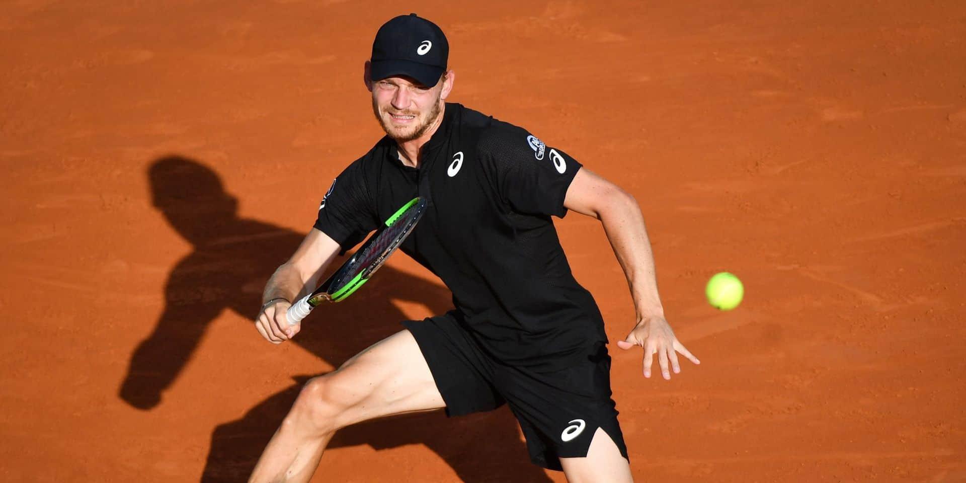 ATP Rome: David Goffin se qualifie pour le 2e tour du double