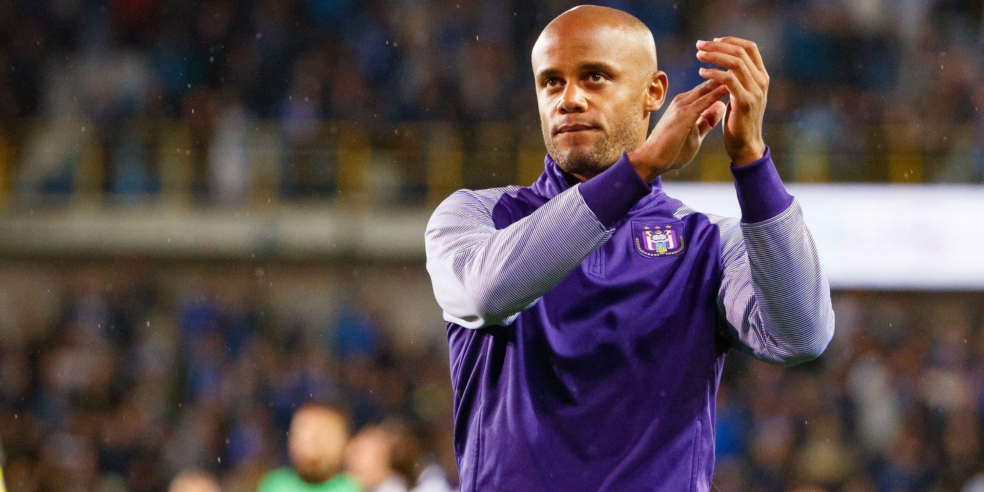 Anderlecht ne va pas en appel de l'amende pour le rôle de Kompany