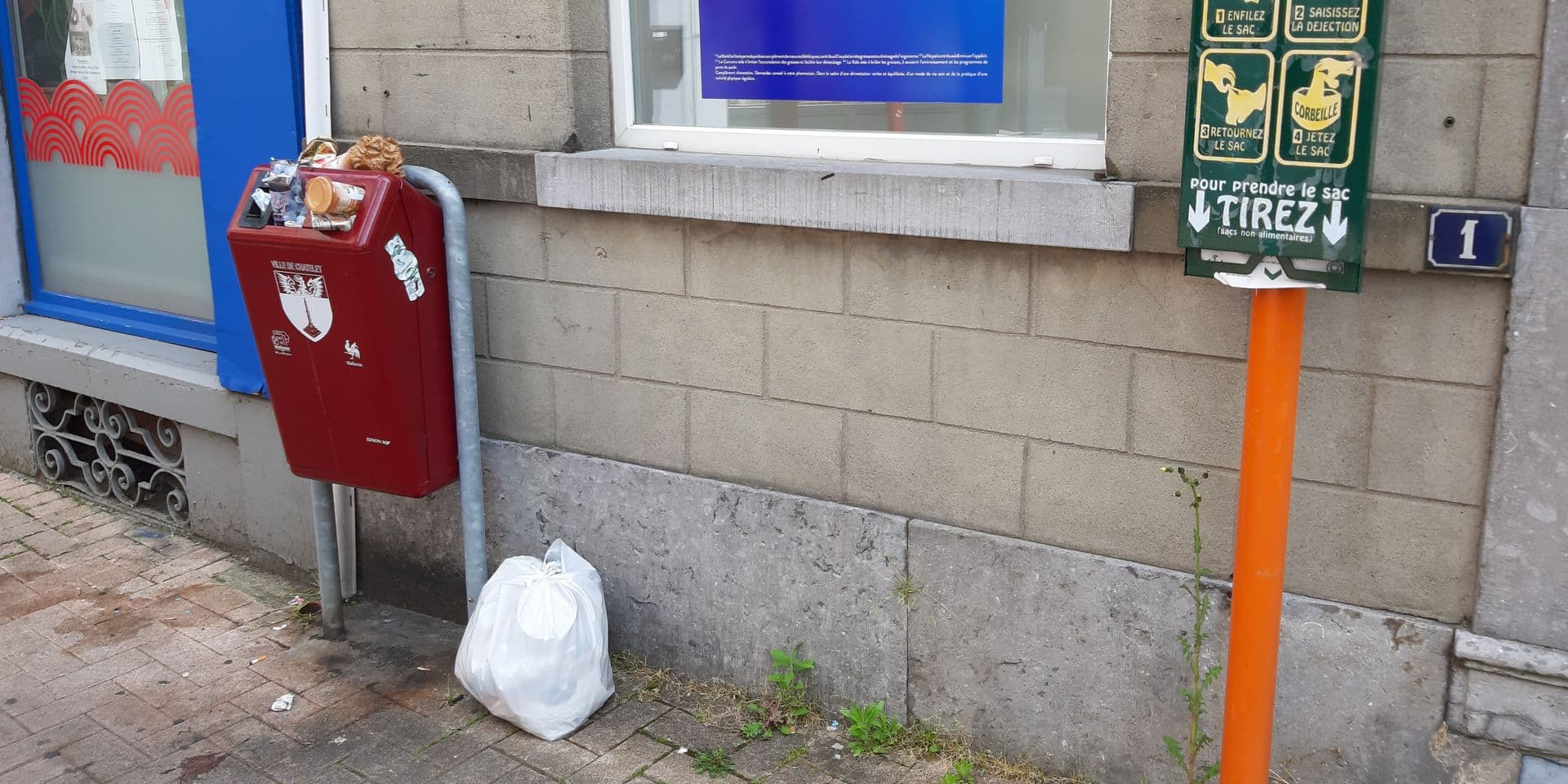 Châtelet: où sont les poubelles publiques dans le centre-ville?