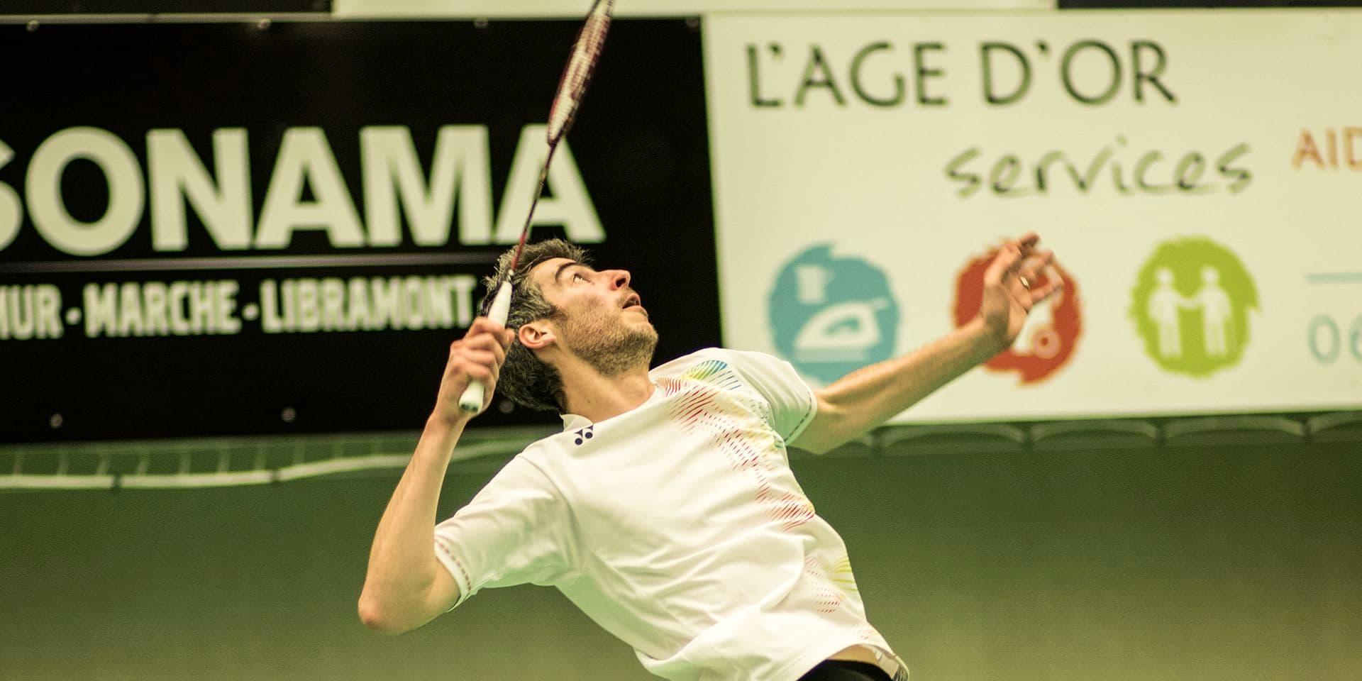 Badminton: Fred Gaspard parmi les favoris au tournoi du BC Marche