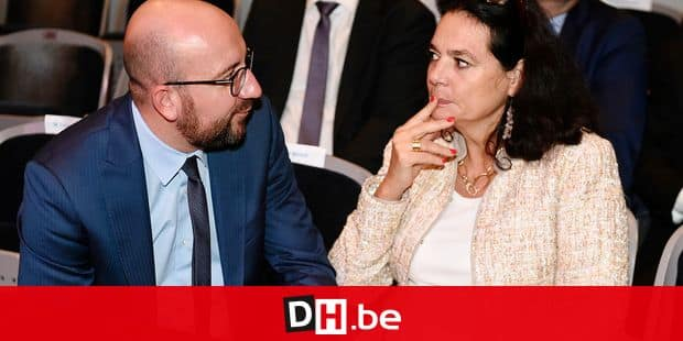 Belgian Prime Minister Charles Michel ,talks with and MR's senator Christine Defraigne during a ceremony during the festivities at the 'Fetes de Wallonie' (Wallonia feasts) in Namur, Saturday 16 September 2017. BELGA PHOTO JOHN THYS