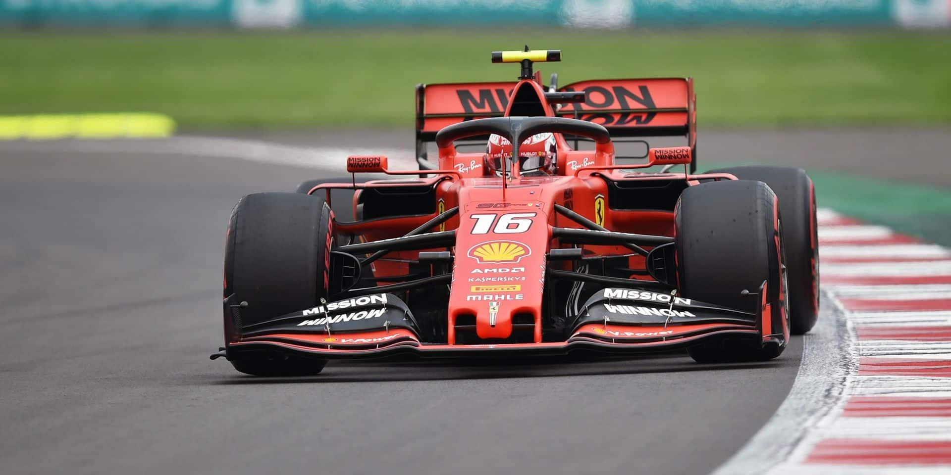 GP du Mexique: Verstappen perd sa pole position, Leclerc en hérite