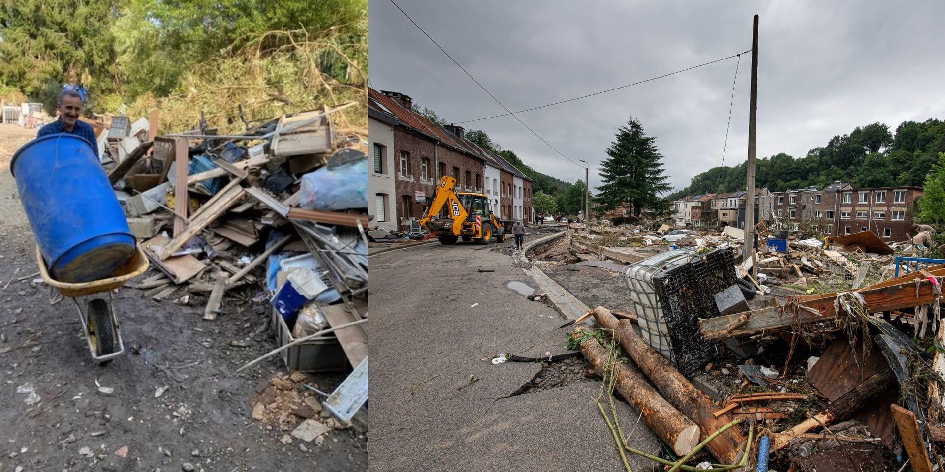 """""""Voici la preuve que les Belges ne se laissent jamais aller"""" : Élie Semoun donne un coup de main aux Belges sinistrés"""