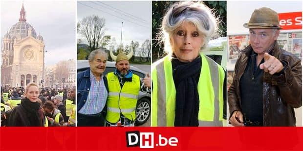 Uma Thurman aperçue au milieu des manifestants à Paris — Gilets jaunes