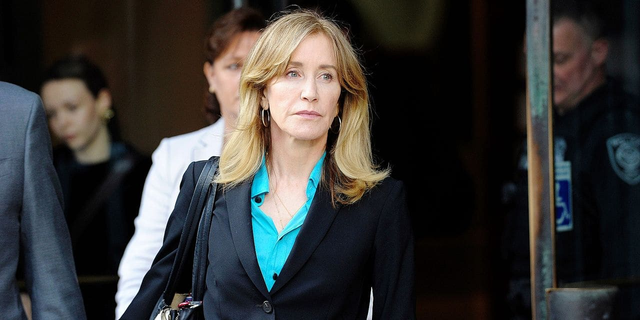 Court appearance of actresses Felicity Huffman and Lori Loughlin, accused of paying bribes to get daughters into a good university