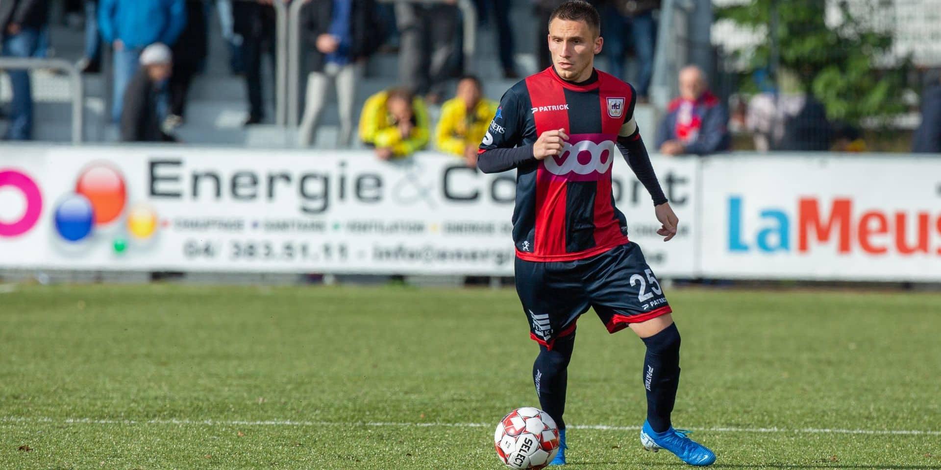 """Jonathan D'Ostilio est le nouveau capitaine du RFC Liège: """"Garder une équipe unie et soudée"""""""