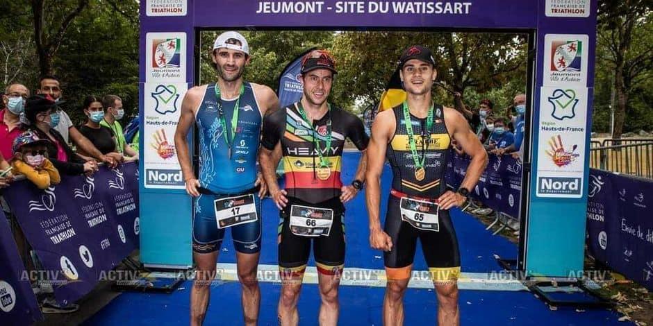 Triathlon cross: Laurence Cougnet et Ryan Louppe sur le podium en France