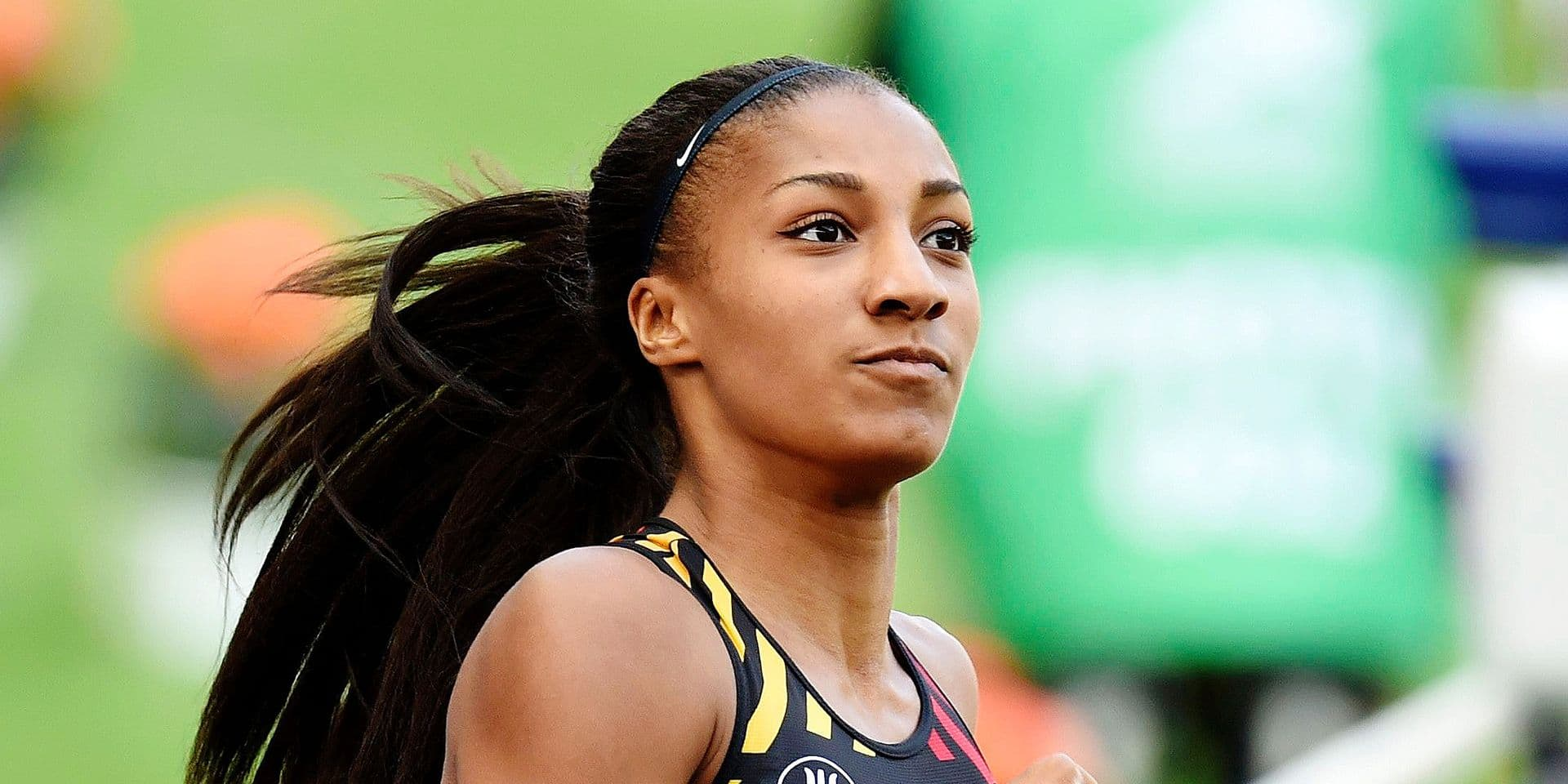 BERLIN , GERMANY - AUGUST 9 : Nafissatou Thiam of Belgium pictured during Heptathlon, at the European Championships Athletics in Berlin 2018 on august 9 2018 in Berlin , Germany ,09/08/2018 ( Photo by Philippe Crochet Photo News / Photonews