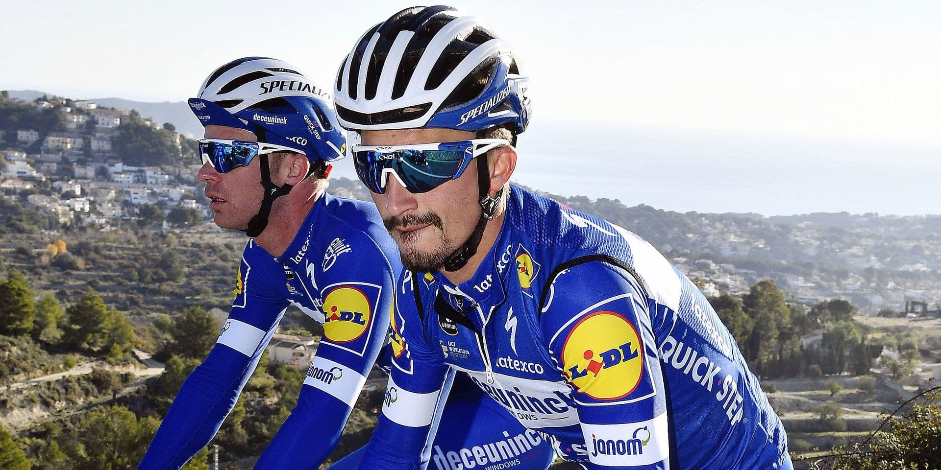 French Julian Alaphilippe of Quick-Step Floors pictured during a training session of Belgian cycling team Deceuninck - Quick-Step, in Calpe, Spain, Tuesday 08 January 2019. BELGA PHOTO ERIC LALMAND