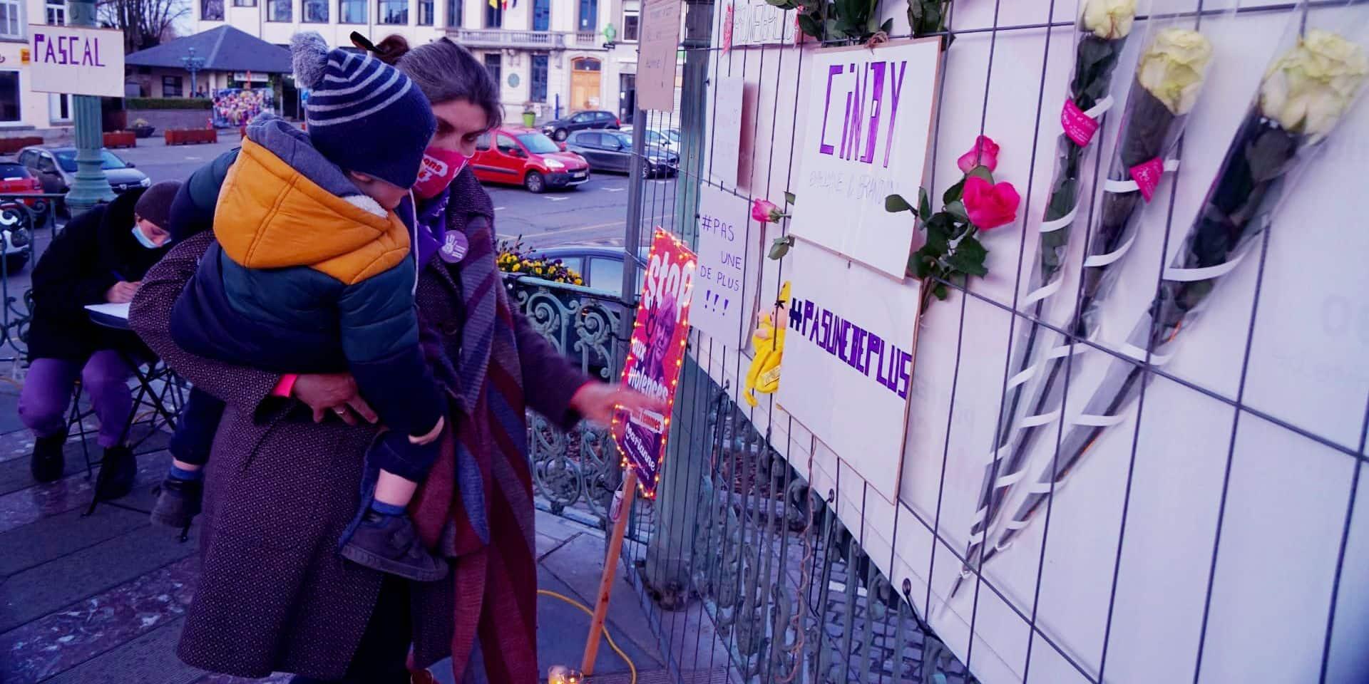 Féminicide à Braine-le-Comte : Rassemblement #pasunedeplus organisé par le PTB pour Cindy