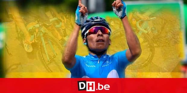 Nairo Quintana from Colombia of Movistar Team wins the 7th stage of the 82. Tour de Suisse UCI ProTour cycling race, in Arosa, Friday, June 15, 2018. (Gian Ehrenzeller/Keystone via AP)