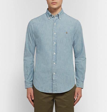 Polo Ralph Lauren. Slim-fit cotton-chambray shirt.    130 euros