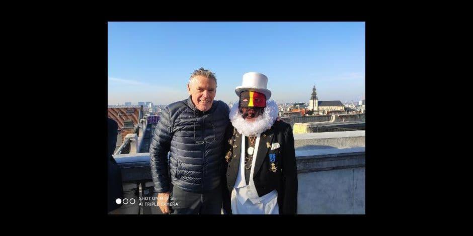 Les Noirauds ont offert un tour de Grand Roue aux enfants mercredi à Bruxelles