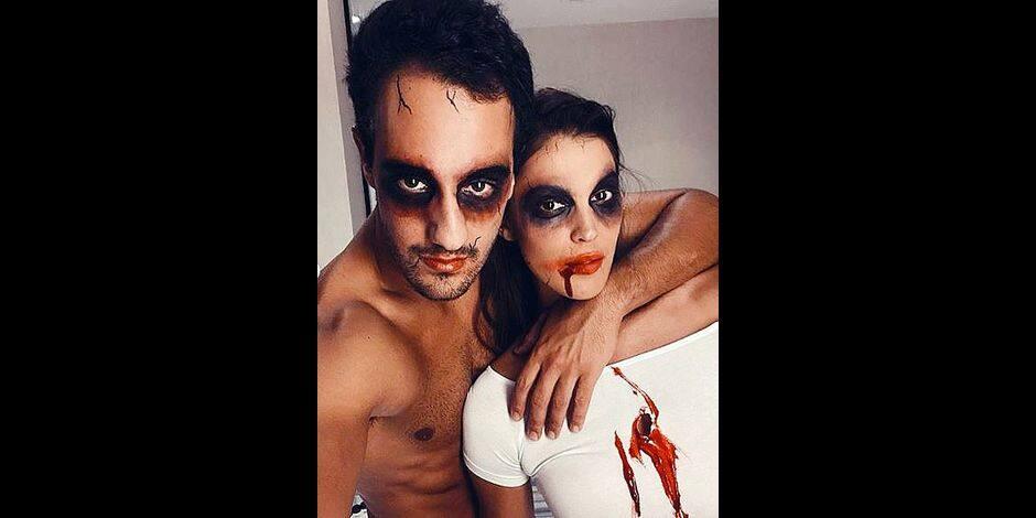 Iris Mittenaere, d'amour et de (faux) sang pour Halloween !