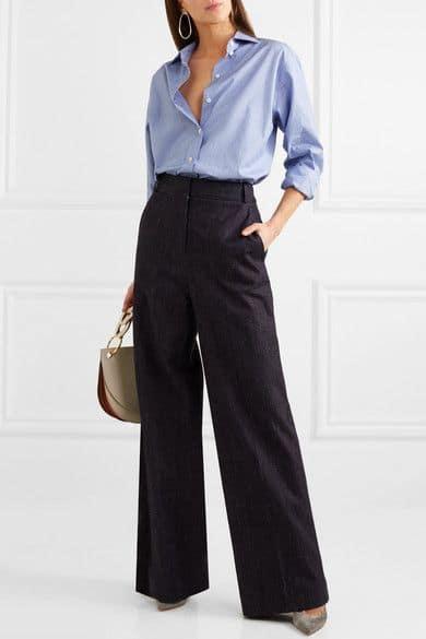 Victoria Beckham. Oversize cotton-chambray shirt.        595 euros