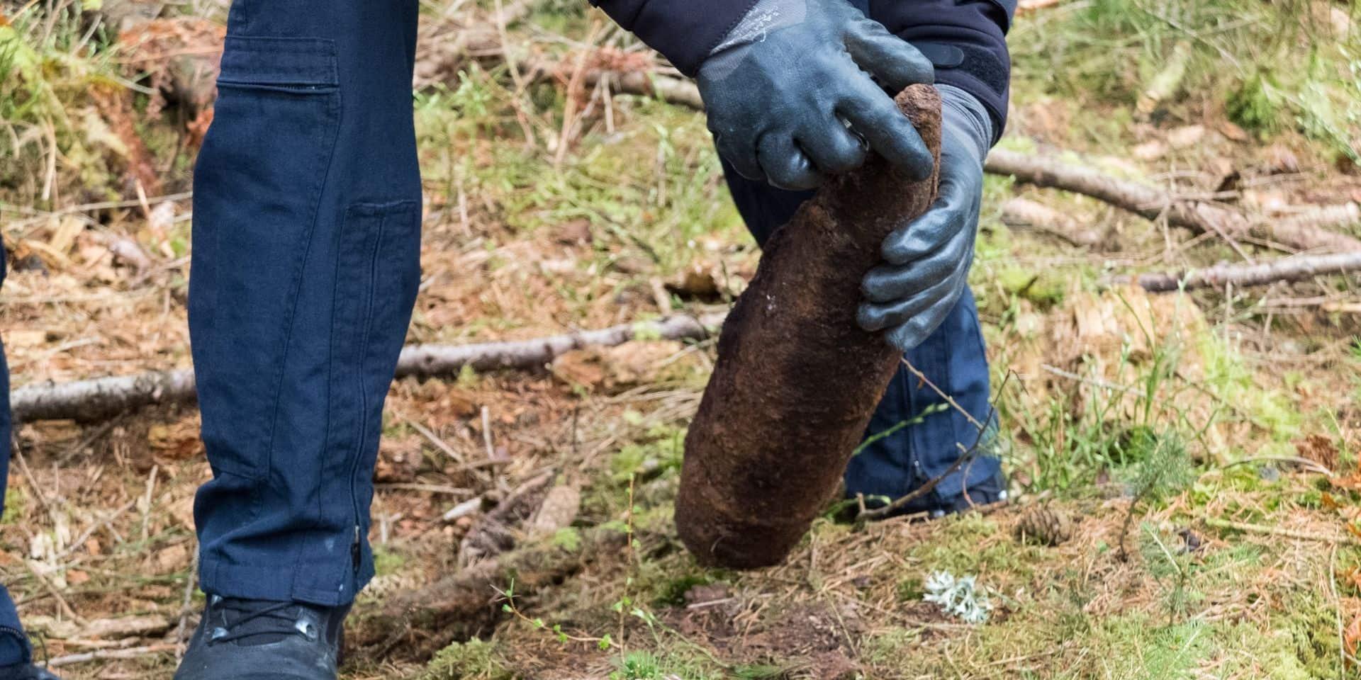Un obus découvert dans un jardin privé à Frasnes-lez-Buissenal