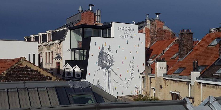 Bruxelles : Une nouvelle fresque a vu le jour dans le quartier Alhambra