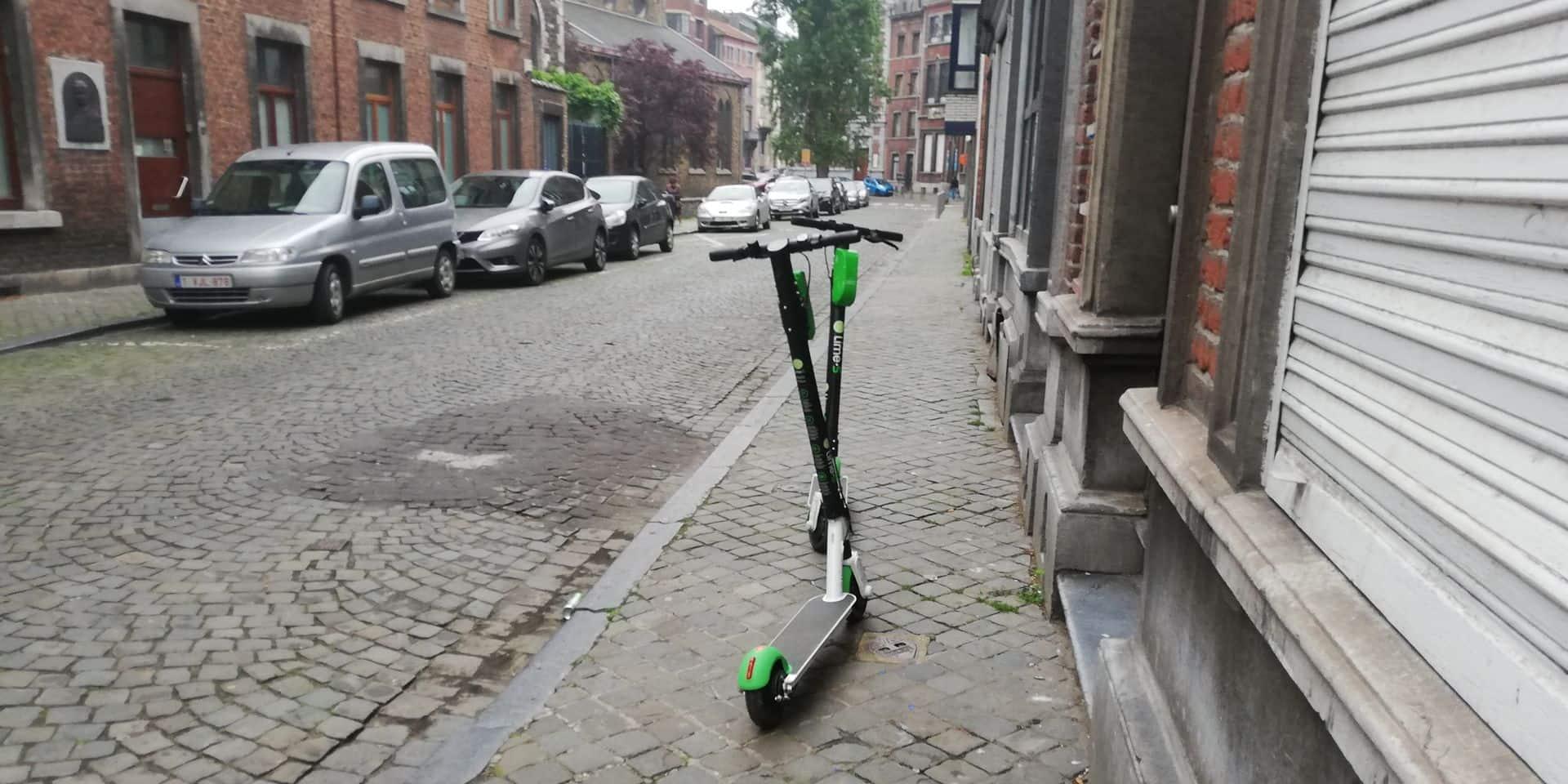 Trottinettes électriques à Liège : une campagne de sensibilisation pour rappeler les devoirs de chacun !