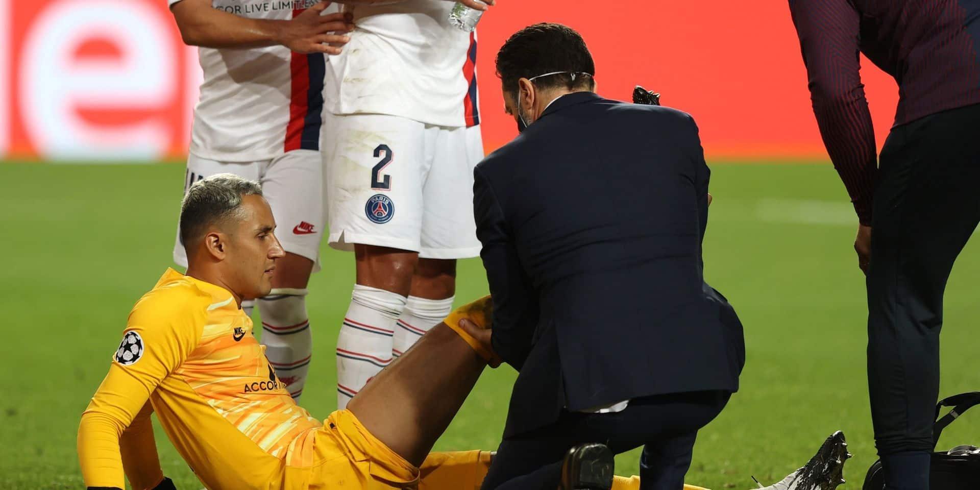 """Ligue des champions: le gardien du PSG Keylor Navas, blessé à une cuisse, """"incertain"""" pour les demi-finales"""