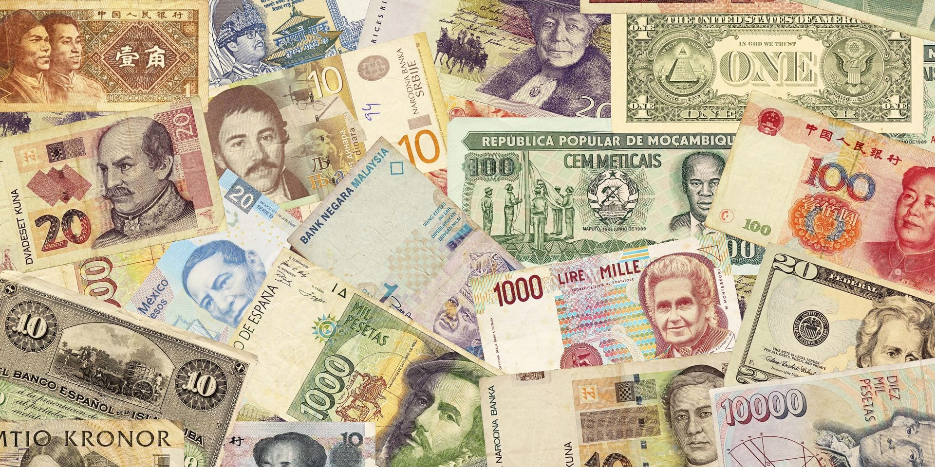 Colorful,Old,World,Paper,Money,Background