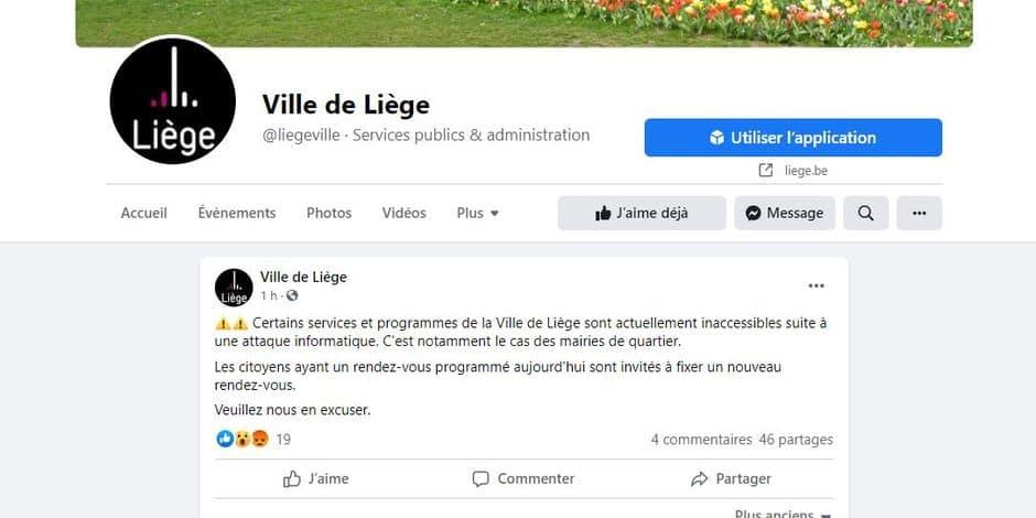 La Ville de Liège victime d'un hackeur !
