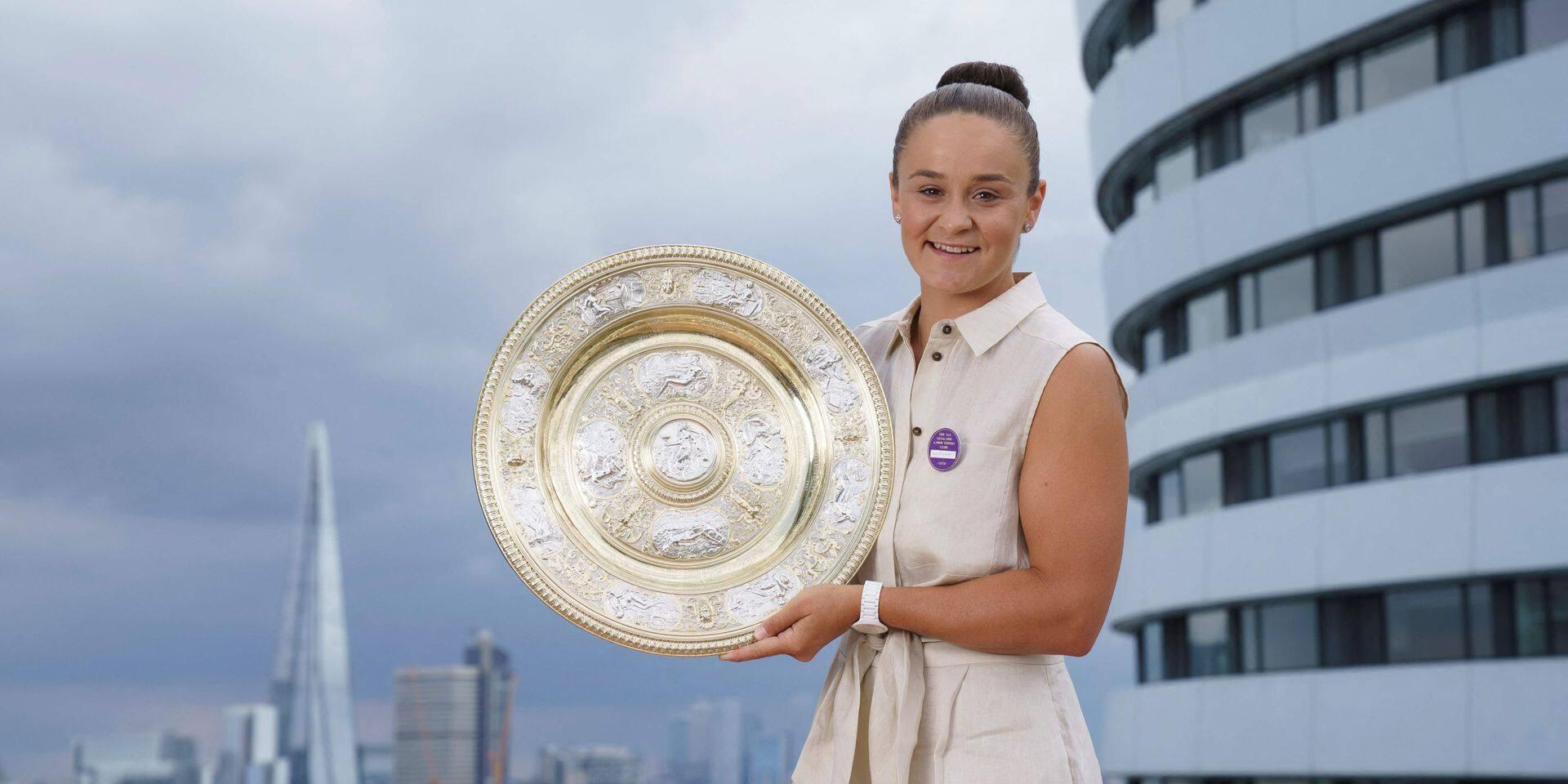 """La numéro un mondiale Ashleigh Barty savoure après son sacre à Wimbledon: """"Mieux que prévu"""""""