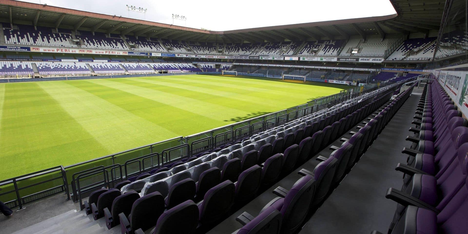 Anderlecht jouera à huis clos durant tout le mois d'août