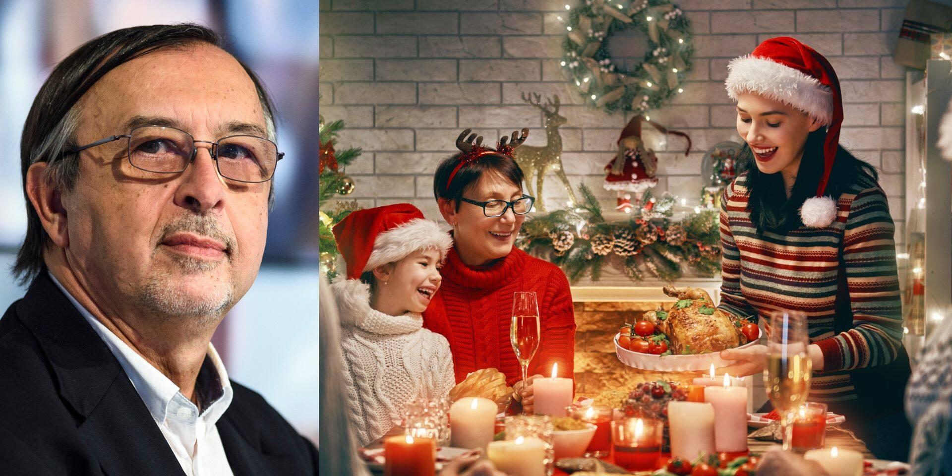 4 invités max, pas de bisou, masques, trêve de Noël : le mode d'emploi Covid des fêtes de fin d'année selon Yves Van Laethem