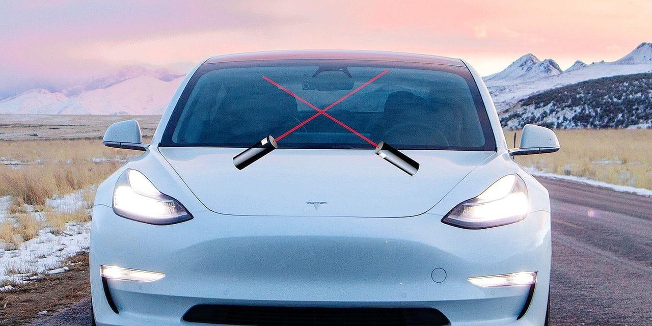 Fini l'eau dans le lave-glace: Tesla invente le nettoyeur de pare-brise...au laser !